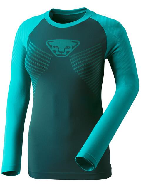 Dynafit Speed Dryarn Hardloopshirt lange mouwen Dames geel/turquoise